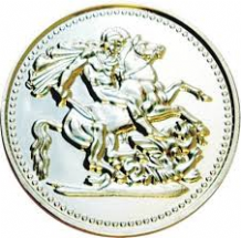 Milk Chocolate Silver Crown Coin 10cm